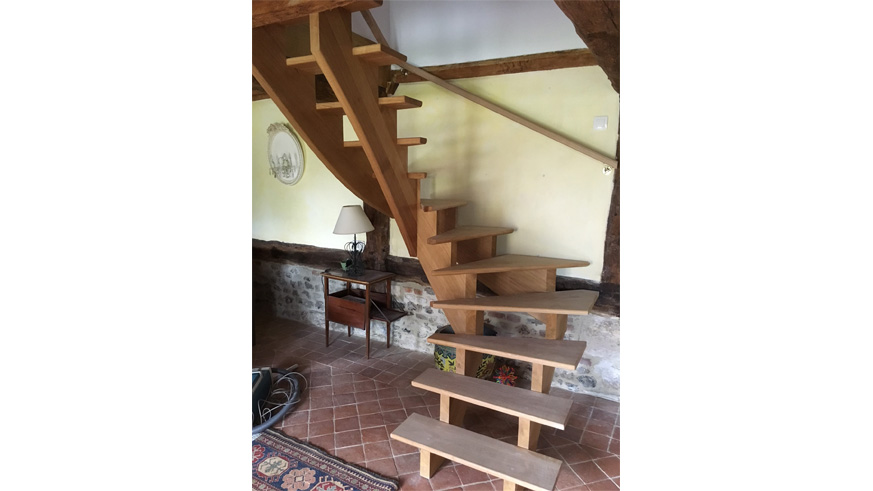 escaliers sur mesure menuiserie michaut calvados